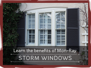 Learn the benefits of Mon-Ray storm windows